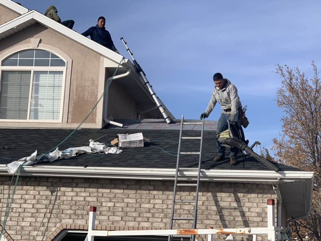 CTI, Roofing, crew, installing, new, roof , state of Utah